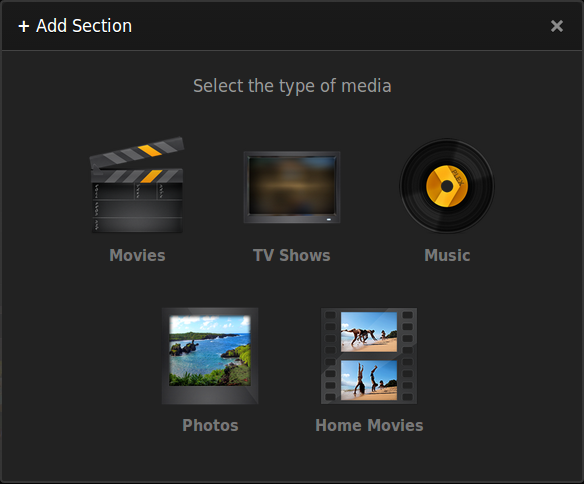 1_PLEX Add Library Section